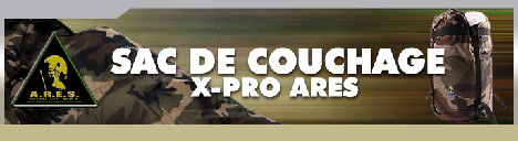 Sac de couchage X-Pro ARES Grand Froid Camouflage C.E.