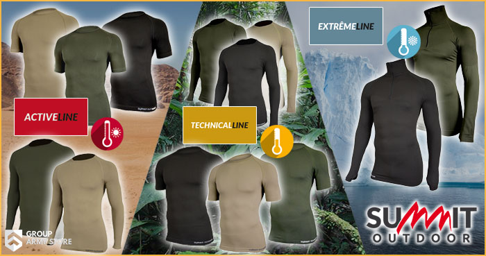 Active Line, Tecnical Line & Extrême Line by Summit Outdoor