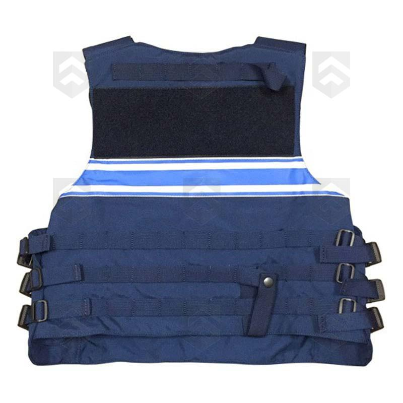 Housse tactique gpb police municipale bleu general army for Housse gilet pare balle gk