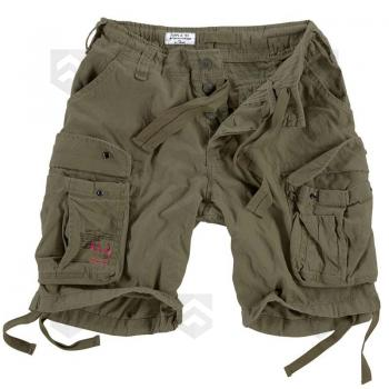 Vente Short Airborne Vintage Kaki / Magasin Surplus Raw Vintage