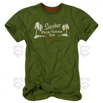 Vente T-shirt Palm Tee manches courtes Surplus Raw Vintage Vert / Magasin Surplus Raw Vintage