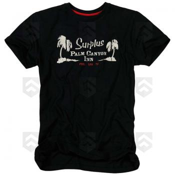 Vente T-shirt Palm Tee manches courtes Surplus Raw Vintage Noir / Magasin Surplus Raw Vintage