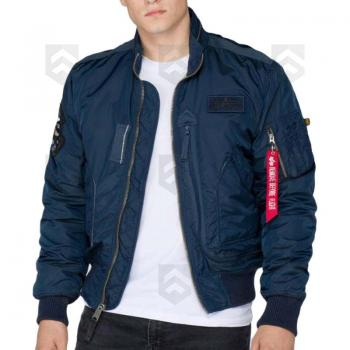 Blouson Bombers ENGINE Alpha Industries Bleu