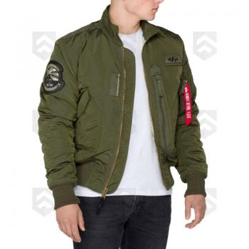Blouson Bombers ENGINE Alpha Industries Kaki