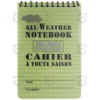 Carnet de notes à spirales tous temps