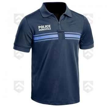 Polo Police Municipale Respirant Manches Courtes Bleu Marine PM ONE