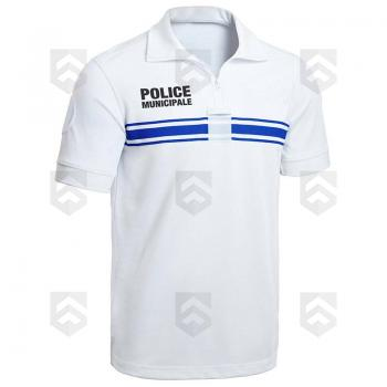Polo Police Municipale Respirant Manches Courtes Blanc PM ONE