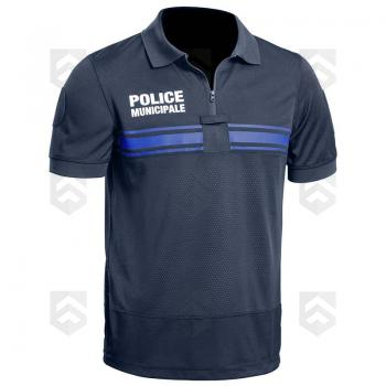 Polo Police Municipale Respirant GPB Manches Courtes Bleu Marine PM ONE