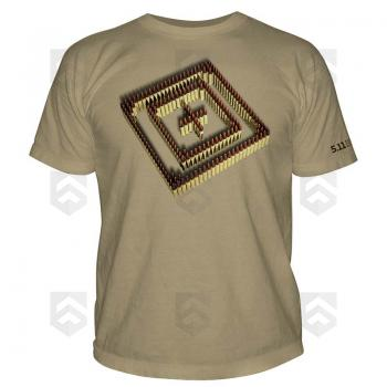 Vente T-shirt manches courtes Firing Line 5.11 Coyote / Magasin 5.11 Tactical Series