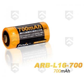 Pile CR123A Li-ion 700mAh rechargeable