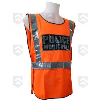 promotions / Soldes Chasuble Fluo Police Municipale Orange - Promo