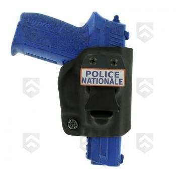 Holster Inside Compact en Kydex pour SP2022 Police Nationale