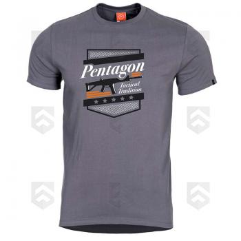 Vente T-shirt manches courtes Pentagon ACR Wolf Grey / Magasin Pentagon