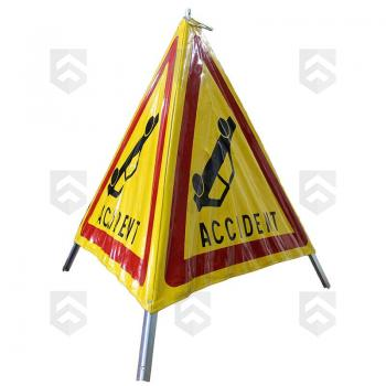 Tripode de Signalisation Danger Accident Pliable