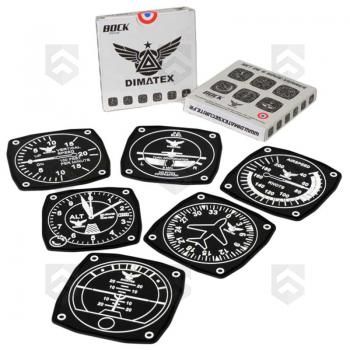 Pack de 6 Sous-Verres AVIATION Dimatex 0