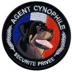 Ecusson rond Agent Cynophile Rottweiller